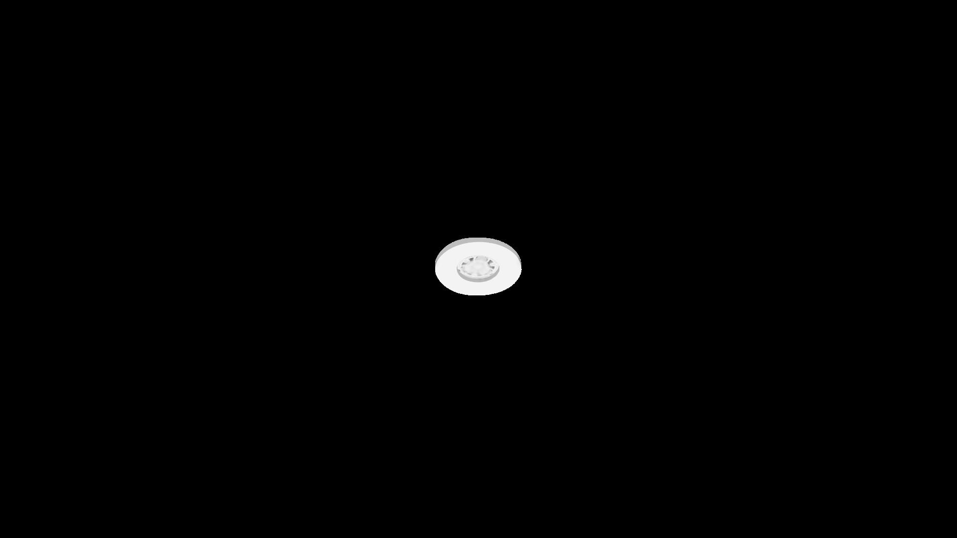 DOWNLIGHT X51_AR3_Marco Redondo no orientable marco Blanco lampara Blanca