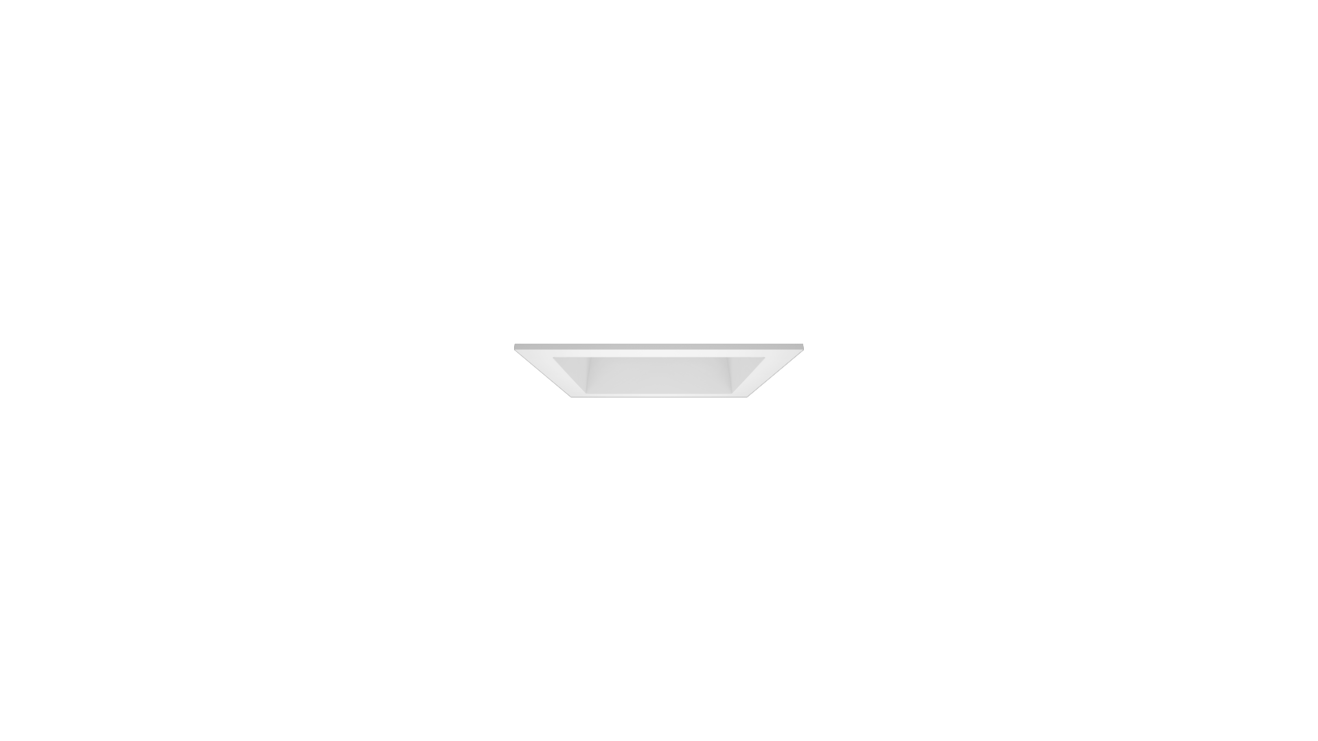 DOWNLIT Q HE UGR19 IP20 Reflector blanco Marco blanco