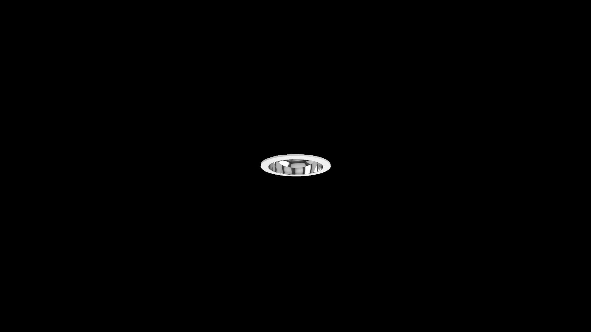 DOWNLIT R HE UGR19 IP20 Reflector especular Marco blanco