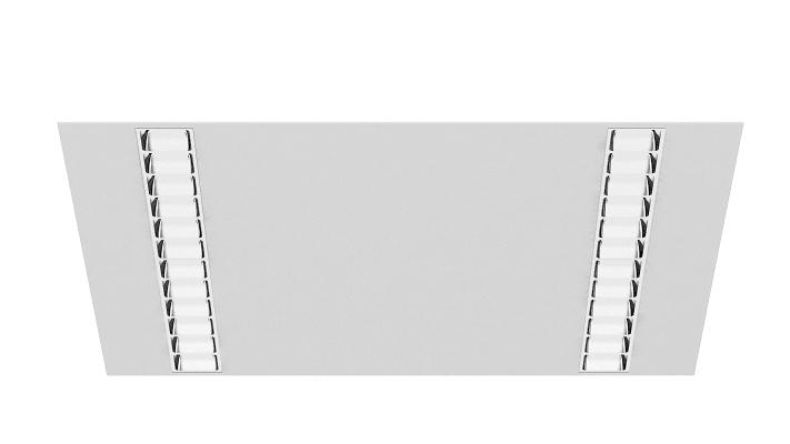 MODUX PL5 60x60 EMPOTRADO NO MODULAR REFLECTOR ESPECULAR BLANCO