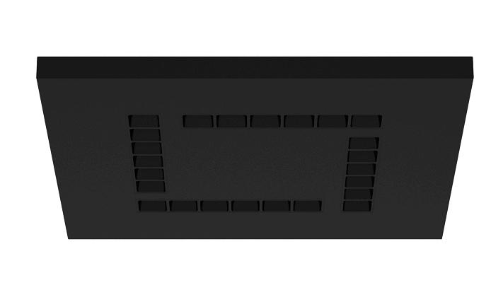 MODUX PQ5 60x60 SUPERFICIE REFLECTOR NEGRO NEGRO